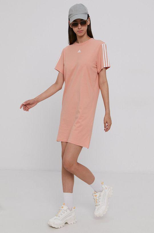 pomarańczowy adidas - Sukienka bawełniana Damski