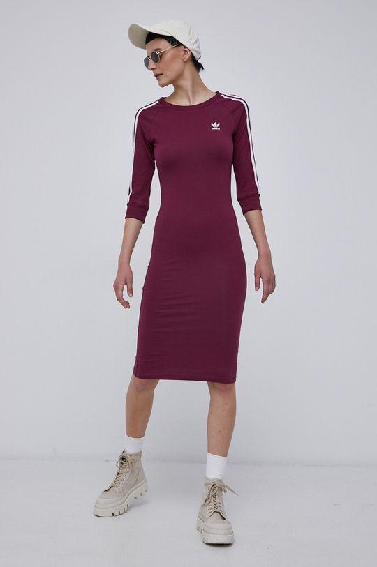 purpurowy adidas Originals - Sukienka
