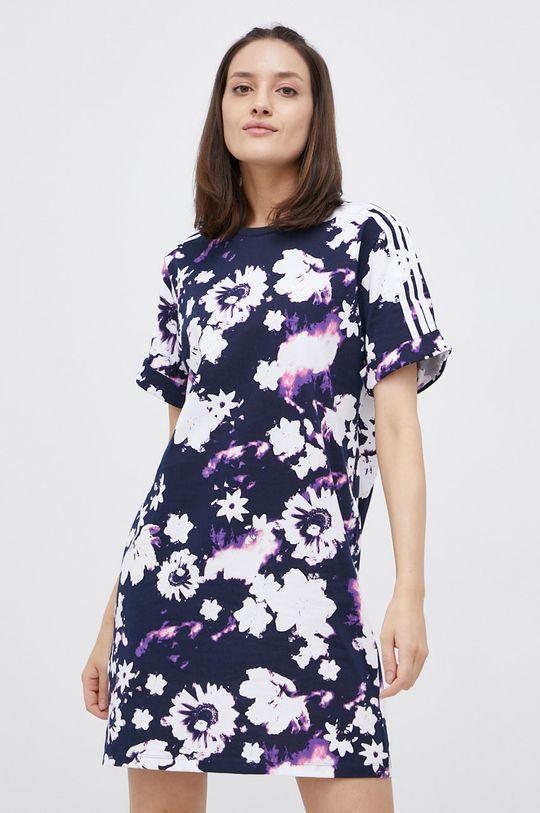 granatowy adidas Originals - Sukienka bawełniana Damski