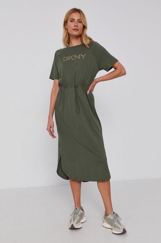 Dkny - Šaty vojenská zelená