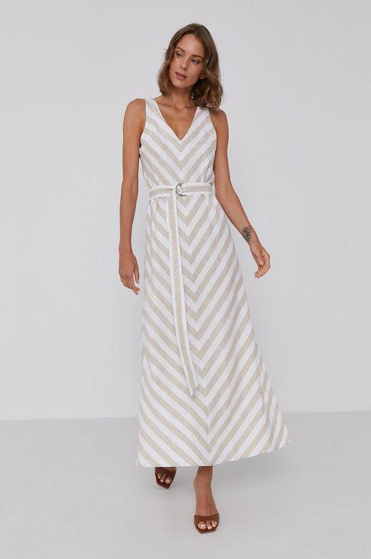 Dkny - Sukienka Podszewka: 100 % Bawełna, Materiał zasadniczy: 55 % Len, 45 % Rayon