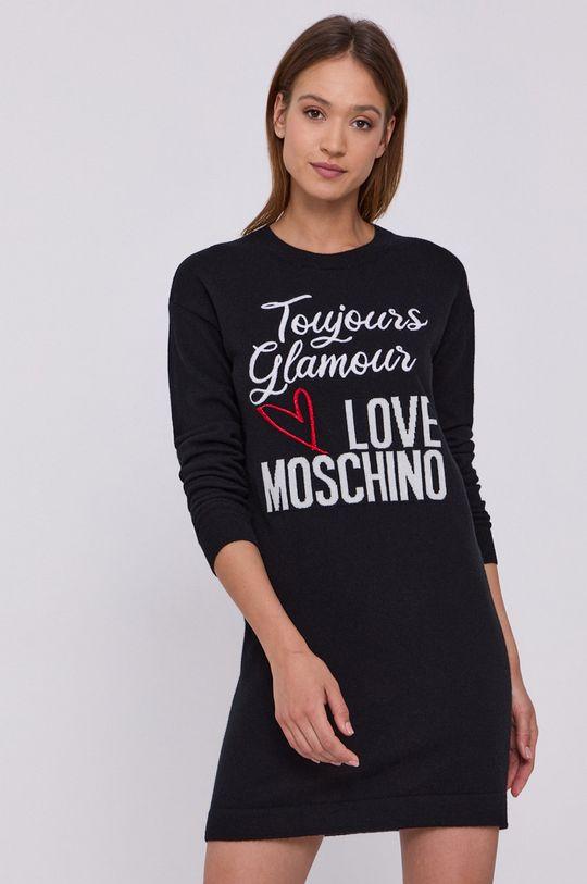 černá Love Moschino - Šaty Dámský