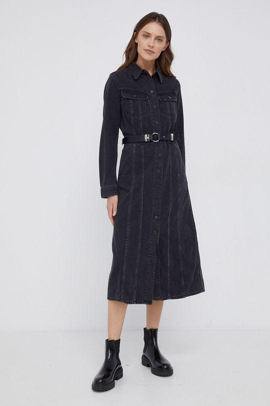 czarny Lee - Sukienka jeansowa Damski