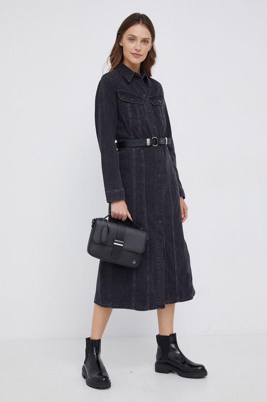 Lee - Sukienka jeansowa czarny