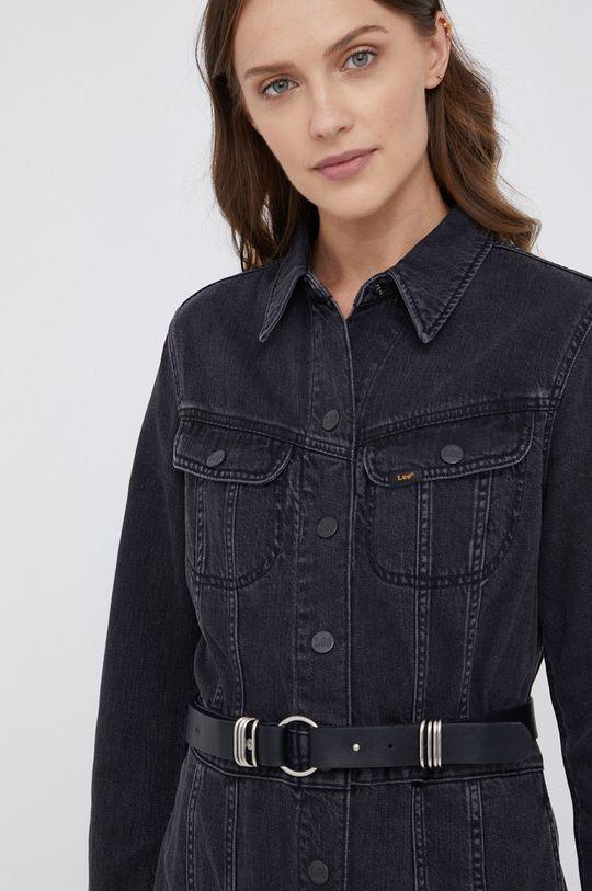 czarny Lee - Sukienka jeansowa