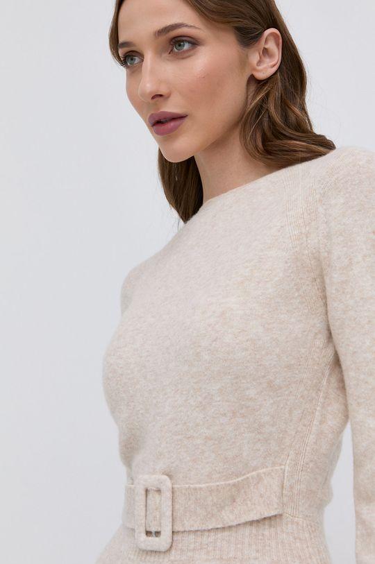 beżowy Morgan - Sukienka z domieszką wełny