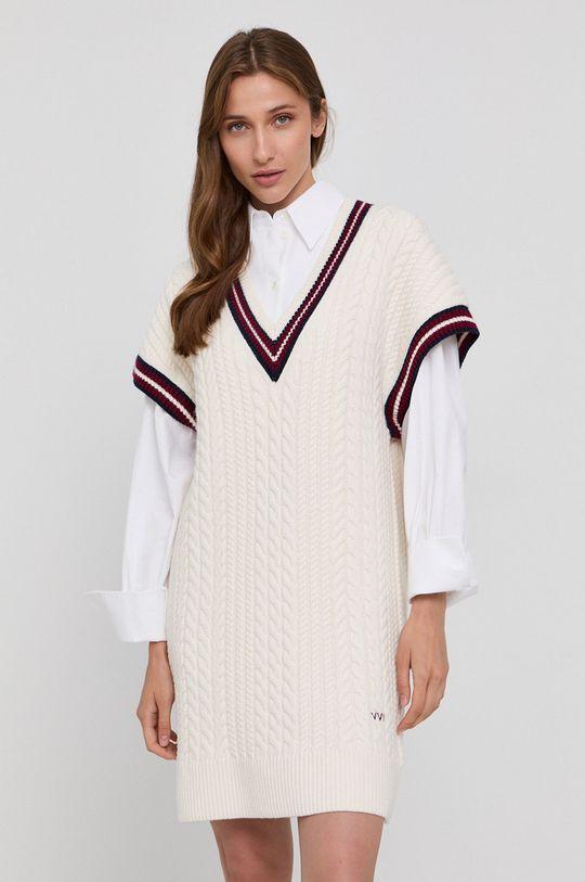 kremowy Victoria Victoria Beckham - Sukienka Damski