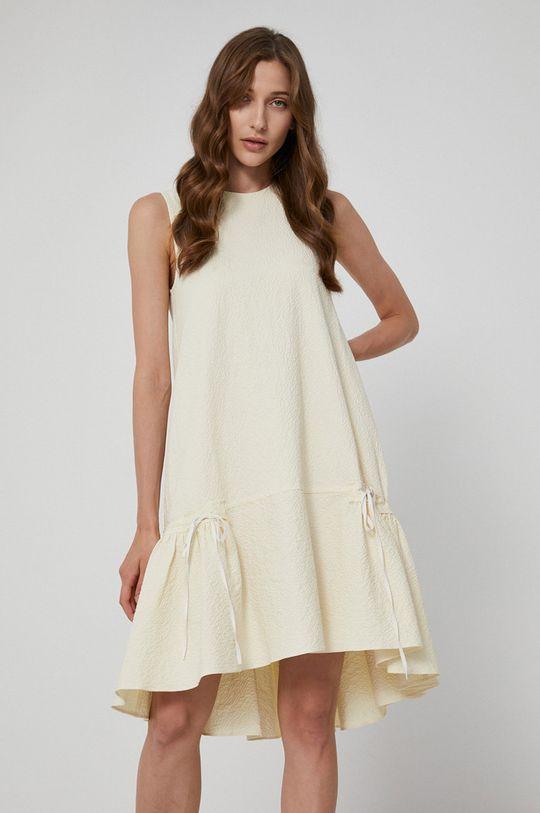 kremowy Victoria Victoria Beckham - Sukienka