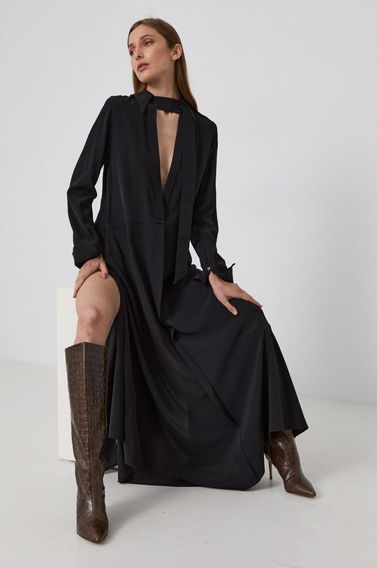 czarny Victoria Victoria Beckham - Sukienka Damski