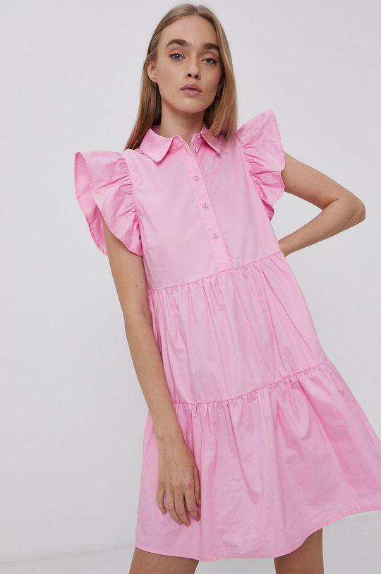 różowy Vila - Sukienka bawełniana Damski
