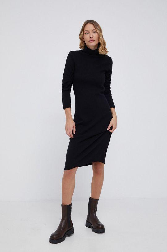 czarny United Colors of Benetton - Sukienka wełniana Damski