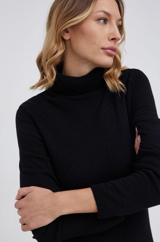 czarny United Colors of Benetton - Sukienka wełniana