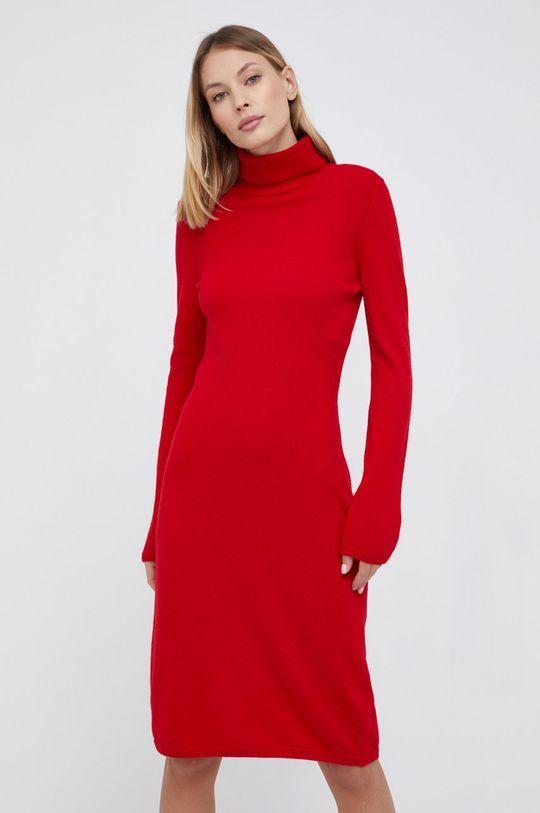 czerwony United Colors of Benetton - Sukienka wełniana Damski