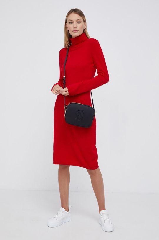 United Colors of Benetton - Sukienka wełniana czerwony