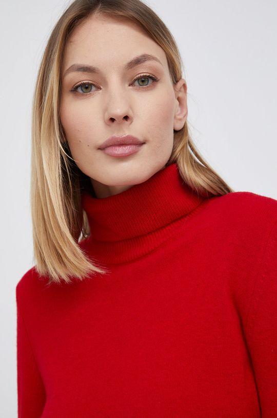czerwony United Colors of Benetton - Sukienka wełniana