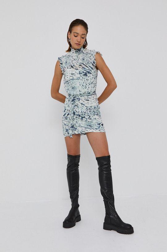 AllSaints - Sukienka jasny niebieski