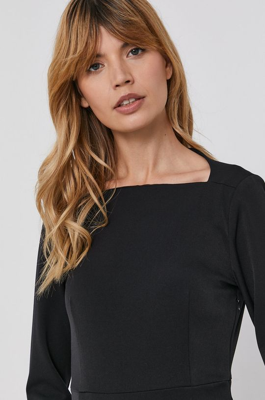 czarny Sisley - Sukienka