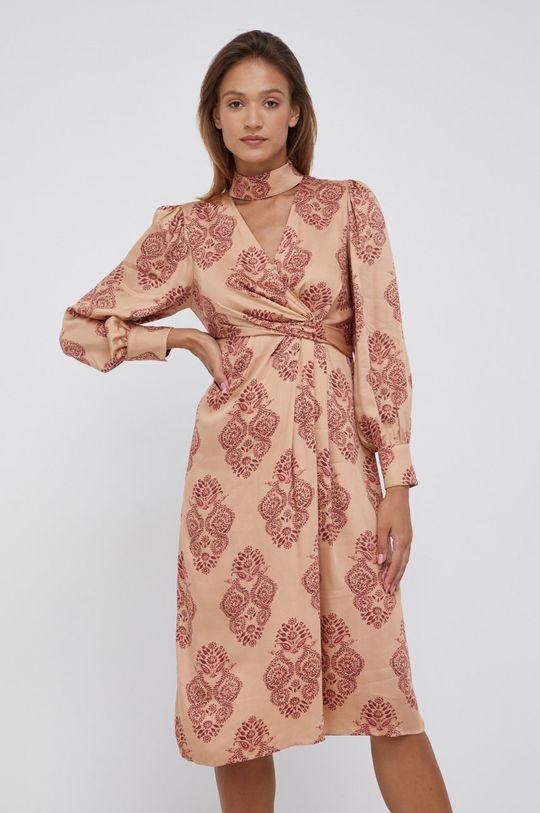 beżowy Sisley - Sukienka Damski
