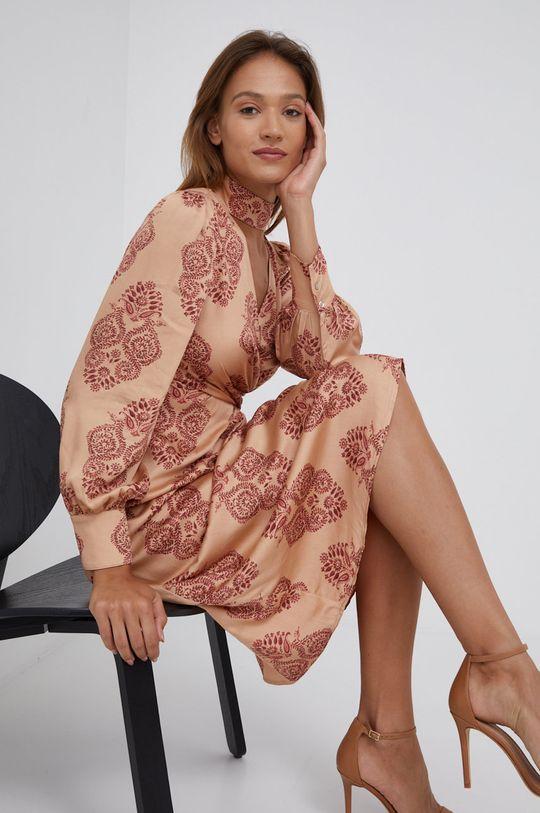 beżowy Sisley - Sukienka