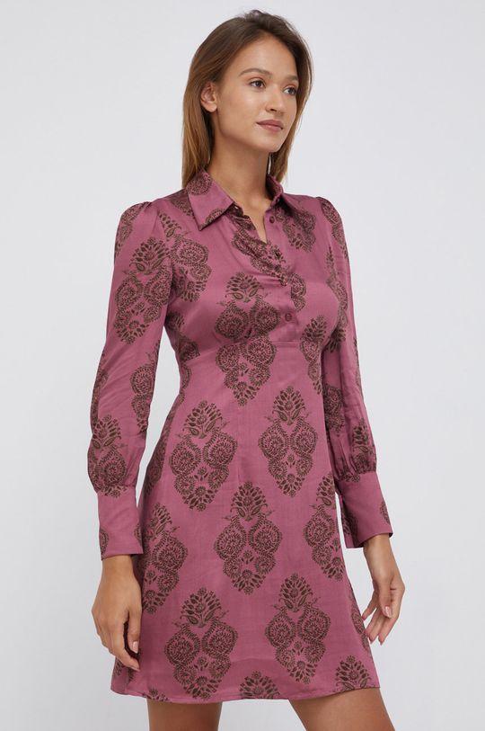 fiołkowo różowy Sisley - Sukienka Damski