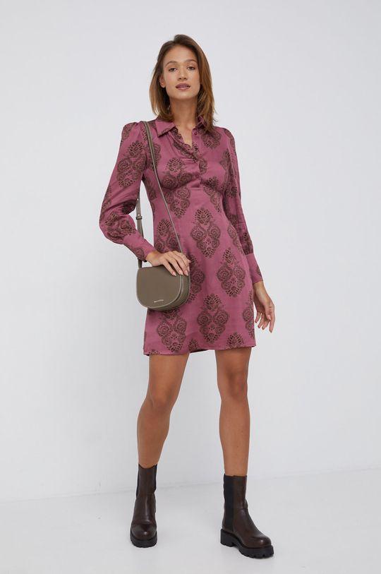 Sisley - Sukienka fiołkowo różowy