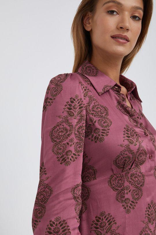 fiołkowo różowy Sisley - Sukienka