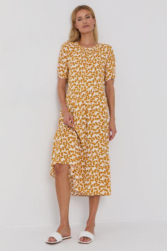żółty Vila - Sukienka Damski