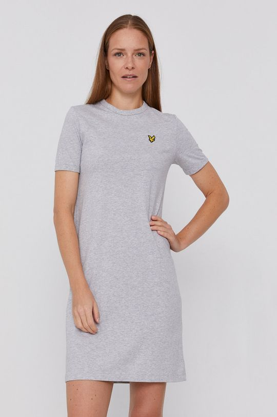 svetlosivá Lyle & Scott - Bavlnené šaty Dámsky