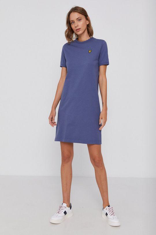 fialová Lyle & Scott - Bavlnené šaty Dámsky