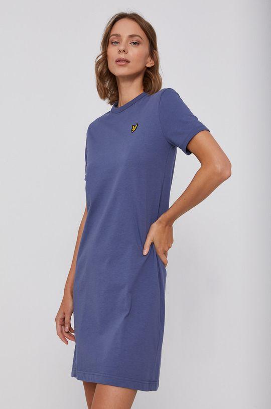 Lyle & Scott - Bavlnené šaty fialová