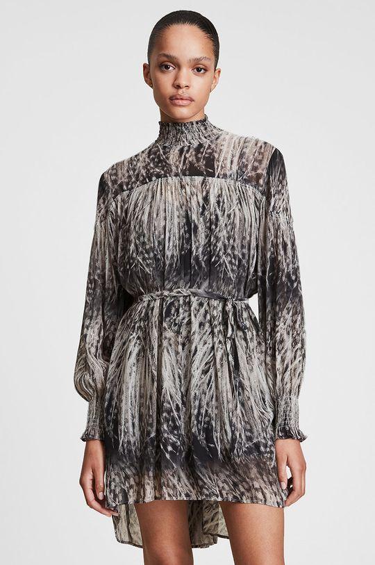 AllSaints - Sukienka Podszewka: 100 % Poliester z recyklingu, Materiał zasadniczy: 40 % Wiskoza, 60 % Wiskoza LENZING ECOVERO