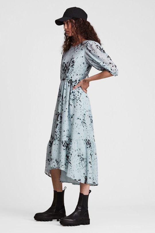 AllSaints - Sukienka Podszewka: 100 % Poliester z recyklingu, Materiał zasadniczy: 9 % Elastan, 91 % Poliester z recyklingu
