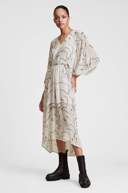 kremowy AllSaints - Sukienka Damski