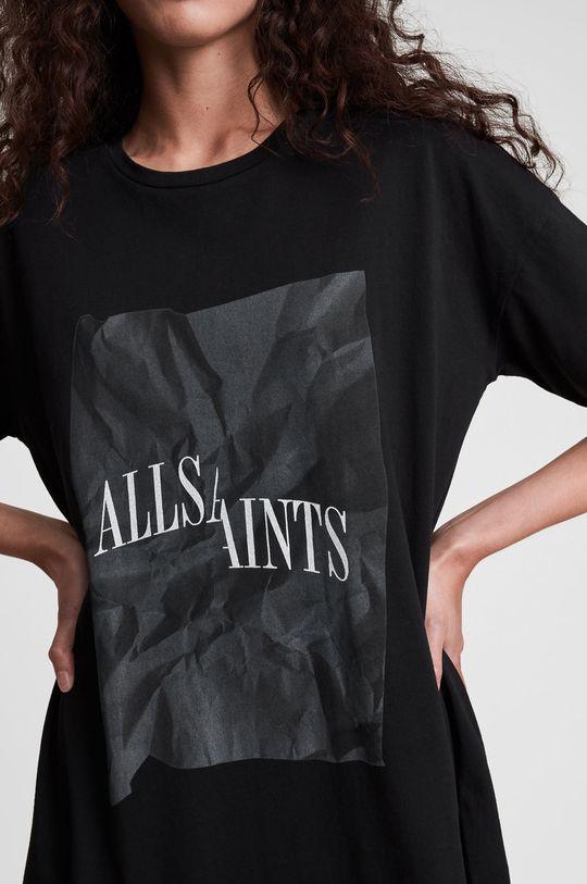 czarny AllSaints - Sukienka bawełniana