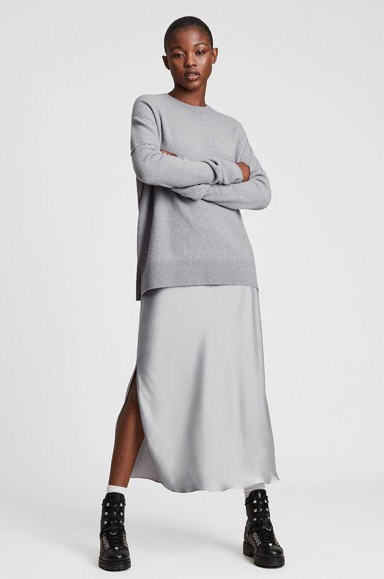 szary AllSaints - Sukienka i sweter Damski