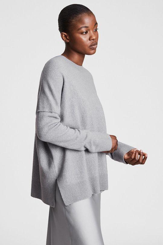 AllSaints - Sukienka i sweter szary