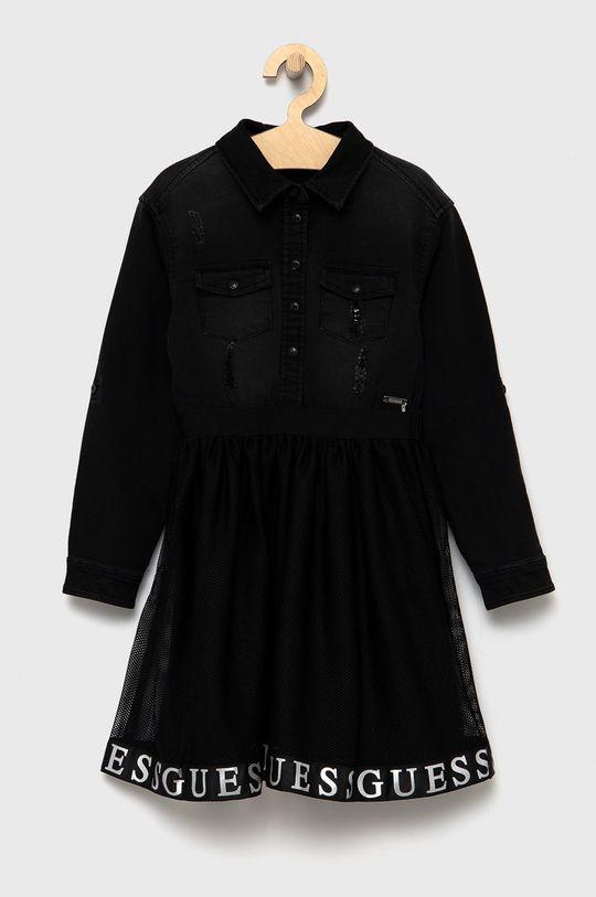 czarny Guess - Sukienka dziecięca Dziewczęcy