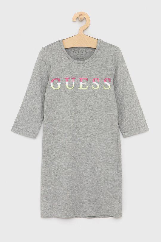 šedá Guess - Dívčí šaty Dívčí