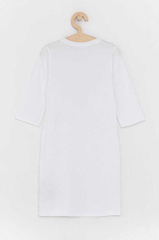 Guess - Sukienka bawełniana dziecięca biały
