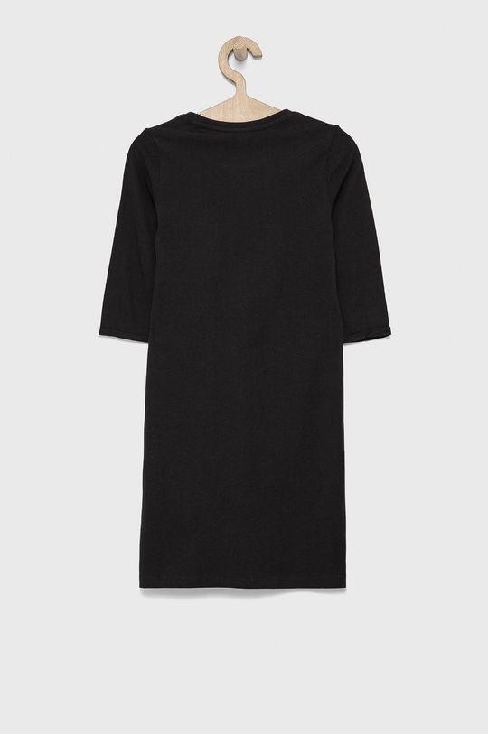 Guess - Sukienka bawełniana dziecięca czarny