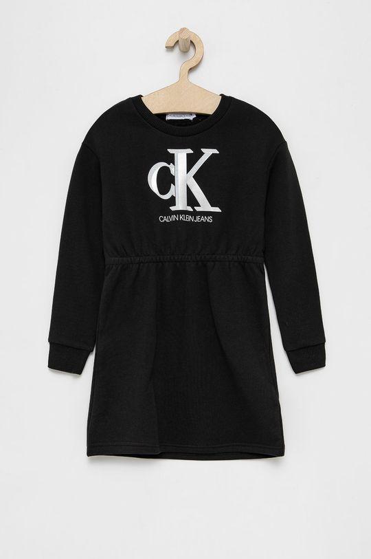 czarny Calvin Klein Jeans - Sukienka dziecięca Dziewczęcy