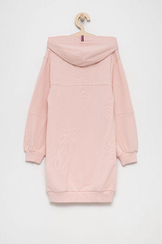 Tommy Hilfiger - Sukienka bawełniana dziecięca różowy