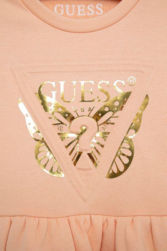 Guess - Sukienka bawełniana dziecięca 100 % Bawełna organiczna