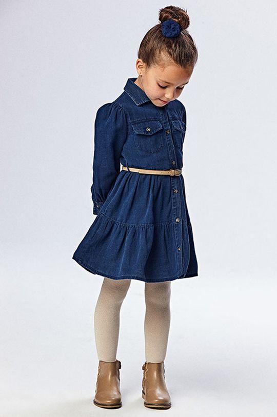 winogronowy Mayoral - Sukienka jeansowa dziecięca Dziewczęcy