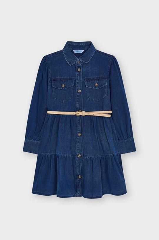 Mayoral - Sukienka jeansowa dziecięca winogronowy