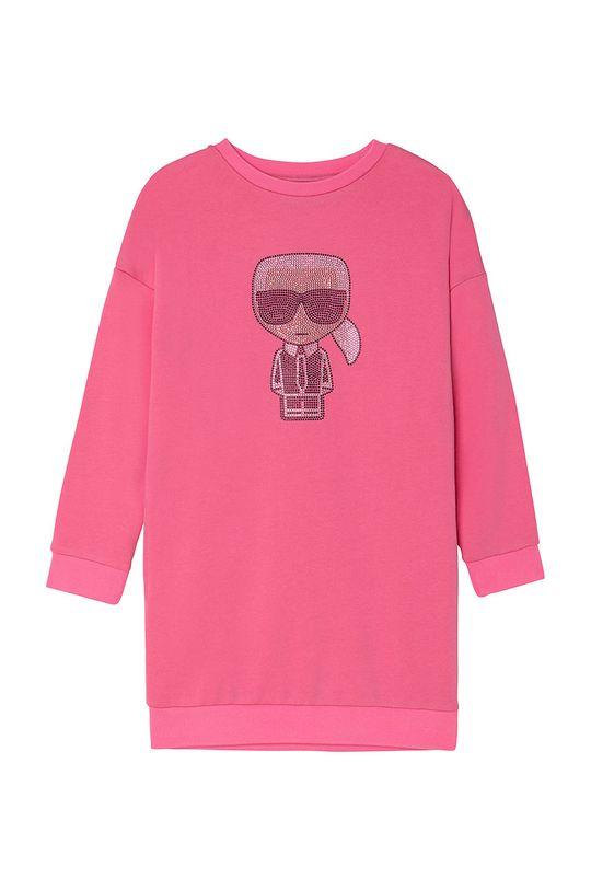 roz ascutit Karl Lagerfeld - Rochie fete De fete
