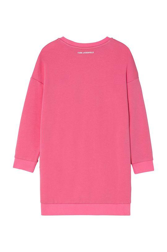 Karl Lagerfeld - Rochie fete roz ascutit