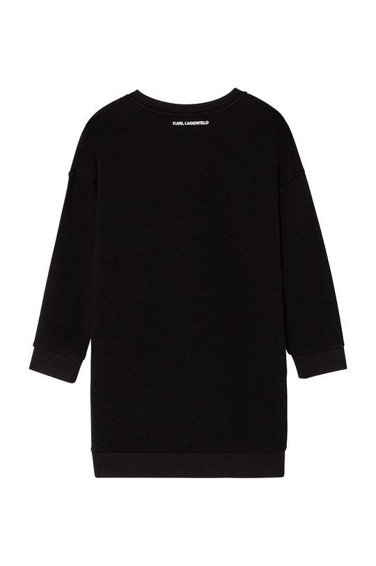 Karl Lagerfeld - Dievčenské šaty čierna