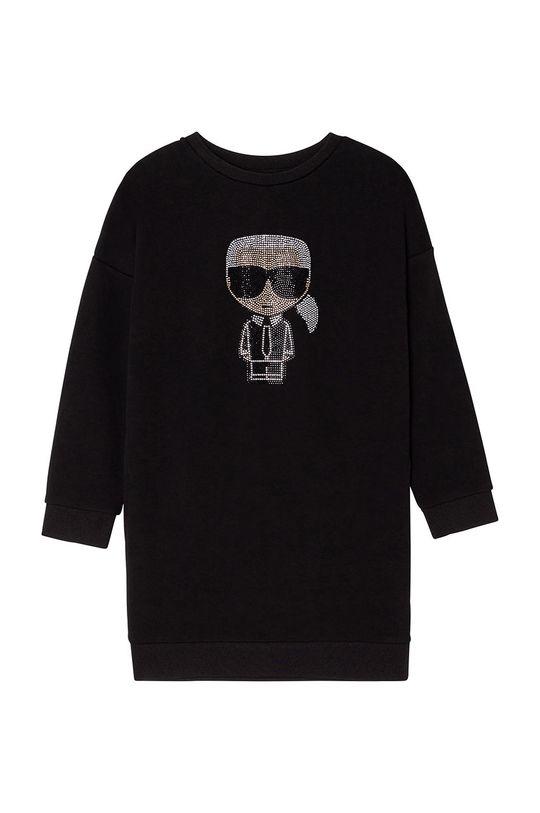 czarny Karl Lagerfeld - Sukienka dziecięca Dziewczęcy