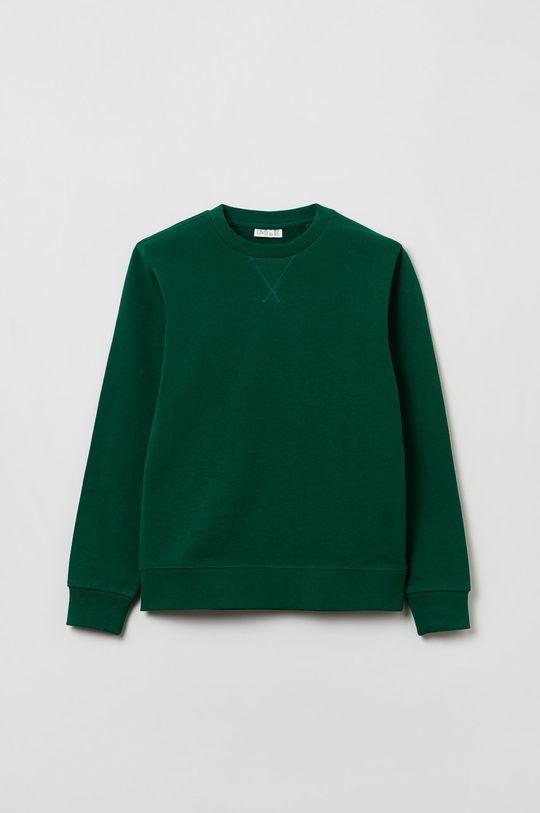 brązowa zieleń OVS - Bluza bawełniana dziecięca Chłopięcy